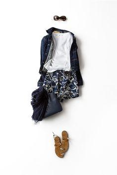 Kyoko Kikuchi's Closet | リゾートムードなショートパンツに女らしさを足す。