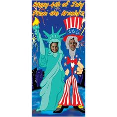 6 ft. 2 in. Patriotic Couple Stand In