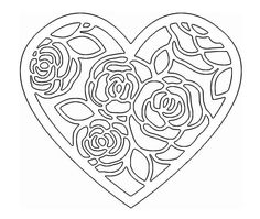 Stencil Art, Stencil Designs, Stencils, Scroll Saw Patterns, Wood Patterns, Paper Flower Patterns, Paper Flowers, Kirigami, Coloring Book Pages