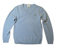 Lacoste sweater woman's size M (38) 100% cotton logo blue original clothing #Lacoste #sweater
