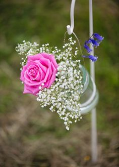 Jar Flowers Aisle Ceremony Decor Creative DIY Outdoor Tipi Field Wedding http://hbaphotography.com/