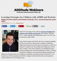 Dyslexia and ADHD: Learning Strategies to Help Children