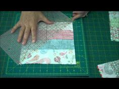 easy way to make pinwheel blocks from jelly rolls/strips