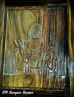 Wood carving in a church.