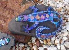 Mosaic Gecko by Mary Sutherland