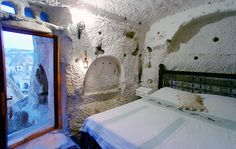 Cappadoccia - Room in a fairy chimney - 55 euros a night for two including breakfast and taxes.