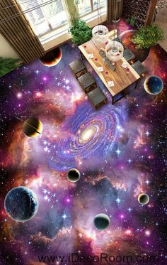 Universe Planet Nebula Galaxy 00075 Floor Decals 3D Wallpaper Wall Mural Stickers Print Art Bathroom Decor Living Room Kitchen Waterproof Business Home Office Gift