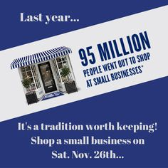 Some great reasons to shop local this weekend on Small Business Saturday. Small Business Saturday, Did You Know, Knowing You, Campaign, Product Launch, Content, American, Medium, Blog