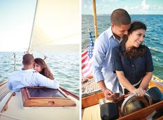 Engaged: Cinthia & Frank in Miami the beyond-cutest nautical engagement shoot in Miami / Erika Delgado Photography Destination Wedding Inspiration, Engagement Inspiration, Love Photography, Engagement Photography, Engagement Session, Nautical Engagement, Sailing Quotes, Save The Date Photos, Sailing Outfit