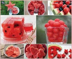 My favourite fruit…dreaming of summer cookouts! Cute Food, Good Food, Yummy Food, Watermelon Art, Eating Watermelon, Watermelon Designs, Fruit Art, Fun Fruit, Fruit Ideas