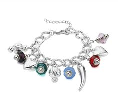 Loads going on in this really eye-catching charm bracelet. What really sets it off though? a 2.5 cm chilli. Brilliant!