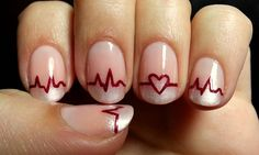 "11.6k Likes, 199 Comments - Medical Doctors Worldwide (@medical.doctors) on Instagram: ""Creative idea for medical students ➡ Awesome EKG themed Nail Design  #doctor #medlife…"""