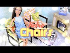 How to Make Doll Retro Chairs - Doll Crafts - YouTube