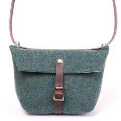 Image of Harris Tweed Green Dolly Bag