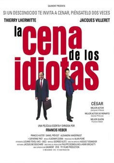 La cena de los idiotas es una comedia francesa basada en la obra de teatro homónima. #cenadelosidiotas #francia #gastronomía #cena