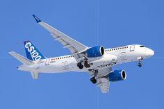 Welcome Home | Bombardier CS100 CSeries FTV1 C-FBCS 50001