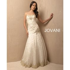 Jovani - Style 2196; avail in ivory & gold and black & gold