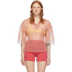 Jacquemus Le Polo Lavandou Embroidered Top In Pink/orange Le Polo, Jacquemus, Young Designers, Orange Shorts, Graphic Patterns, World Of Fashion, Fashion Photo, Your Style, Pink