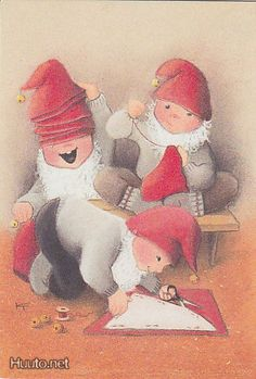 Kaarina Toivanen Fantasy Literature, Children's Literature, David The Gnome, Elf Letters, Funny Drawings, Old Cartoons, Old Fashioned Christmas, Scandinavian Christmas, Craft Activities