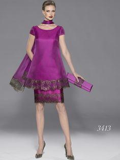 Risultati immagini per moda teresa ripoll 2015 Taffeta Dress, Satin Dresses, Lace Dress, Dress Up, Mother Of Bride Outfits, Mothers Dresses, Iranian Women Fashion, African Fashion, Short Dresses