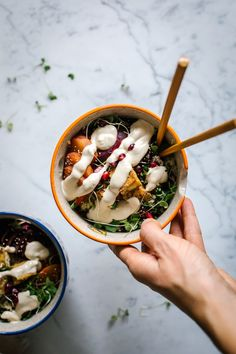 A Hippie Winter Bowl w/ Tangy Cashew Sauce