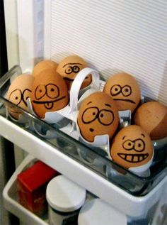So I'm totally going to be the one that when I get older and live on my own, I'm going to draw faces on every single one of the eggs I buy =D