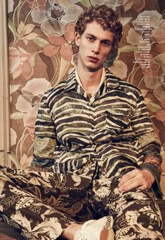 Robbi G channels a jungle motif in IRO, Missoni and Dries Van Noten.