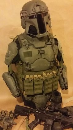 Galac-Tac Tactical Armor, Tactical Survival, Boba Fett Mandalorian, Futuristic Armour, Future Soldier, Tac Gear, Armor Concept, Fire Powers, Military Gear