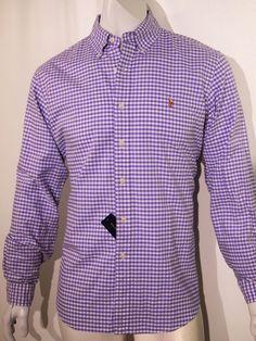 Polo Ralph Lauren men's gingham oxford long sleeve shirt size small NEW on SALLE #PoloRalphLauren #ButtonFront