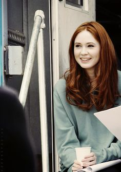 Karen Gillan as Lily Potter (formerly Evans, shortly after getting married)