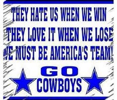Haters gonna hate. GO COWBOYS! #America'sTeam
