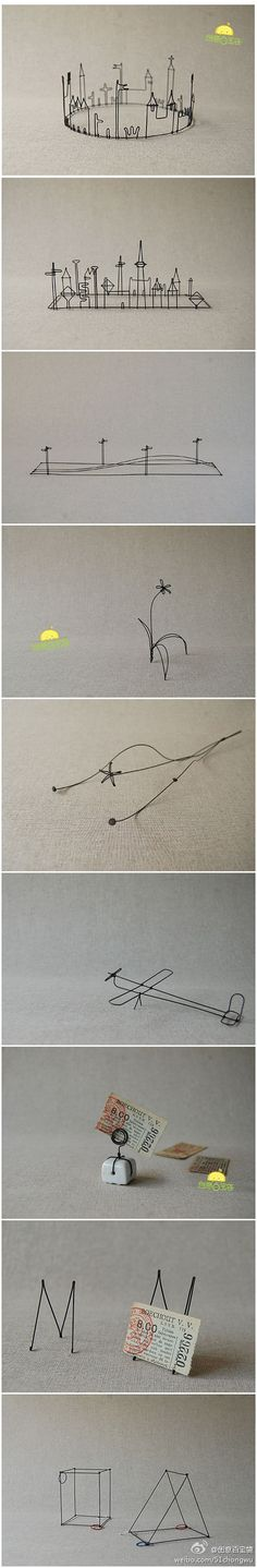 ------- love these, really wanna try making one of my drawings into a wire sculpture Stylo 3d, Art Fil, 3doodler, Wire Drawing, 3d Cnc, Sculpture Art, Wire Sculptures, Pen Art, Wire Crafts