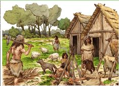 neolithic - Google Search Medieval, Stone Age People, Ancient Indian History, Stone Age Art, Dinosaur Era, Ages Of Man, Prehistoric World, Early Humans, Bible Illustrations
