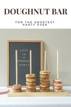 Having a doughnut bar would be so fun! My kids would love it! #ad #donutbar #doughnutbar #wedding #caketable #loveydovey #doughnut #donut