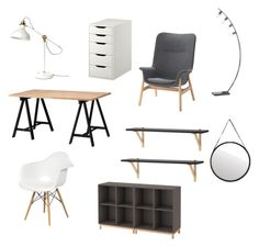 """""""Scandi Study"""" by jennifer-266 on Polyvore featuring interior, interiors, interior design, home, home decor and interior decorating"""