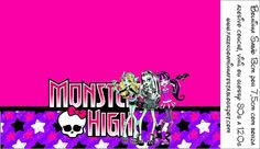 Monster High: Free Printable  candy Labels.