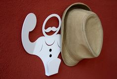FORTE -the coat hanger by Andrea Scarpellini Hat Stands, Coat Hanger, Line Design, Moustache, Objects, Metal, Blog, Stuff To Buy, Hangers