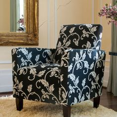Shop for Handy Living Sutton Accent Arm Chair Charcoal Black and White Vine. Get free shipping at Overstock.com - Your Online Furniture Outlet Store! Get 5% in rewards with Club O! - 12155791