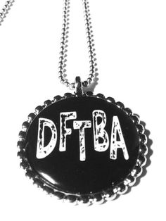 DFTBA Black and White Pendant Necklace by MidnightHouseElves