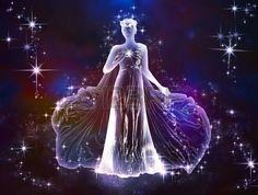 La belleza y la ternura del zodiaco Virgo universo es un amor c smico Siente este amor Foto de archivo
