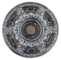 Fine Art Deco in. Bright Night, Silver and Warm Silver Polyurethane Hand Painted Ceiling Medallion - The Home Depot Ceiling Rose, Ceiling Tiles, Ceiling Decor, Ceiling Design, Ceiling Fans, Wall Tiles, Art Deco, Ceiling Medallions, Metallic Colors