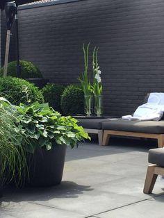 Exterior garden wall tuin 65 Ideas for 2019 Outdoor Rooms, Outdoor Gardens, Outdoor Living, Outdoor Furniture, Lounge Furniture, Natural Furniture, Urban Furniture, Black Furniture, Garden Furniture