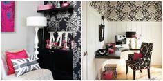 Negro y rosa, dos tonos que combinan a la perfección y que marcan tendencia en las habitaciones juveniles femeninas.