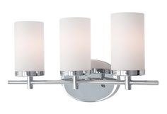 70273 – Three Lamp Vanity with Cylinder White Opal Glass Kuzco