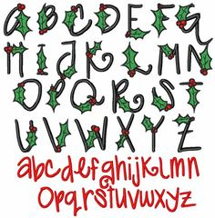 Holly Berry embroidery font