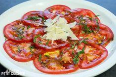 Carpaccio de tomates Nut Recipes, Candy Recipes, Cooking Recipes, Healthy Recipes, Tapas, Buffet, Appetizer Dips, Barbacoa, Ceviche