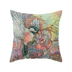Remembering Delight Throw Pillow by colmitchellpaperartist Outdoor Seating Areas, Colorful Artwork, Paper Artist, Outdoor Throw Pillows, Throw Pillow Covers, Decor Styles, Hand Sewing, Sketches, Tapestry
