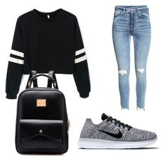 """""""School chic"""" by polyfashionz on Polyvore featuring NIKE"""