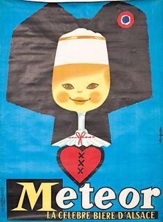 Meteor Bière d'Alsace by Alain Gauthier (1960s)
