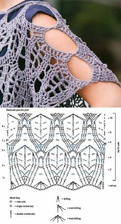 Fotoğraf Hexagon Crochet Pattern, Crochet Motif, Irish Crochet, Crochet Shawl, Crochet Stitches, Free Crochet, Crochet Top, Filet Crochet Charts, Handarbeit